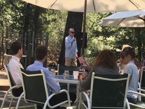 Ed Langan speaking Calaveras County Republican Central Committee
